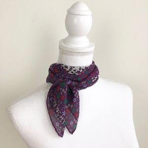 Vtg GIVENCHY Silk Scarf Purple